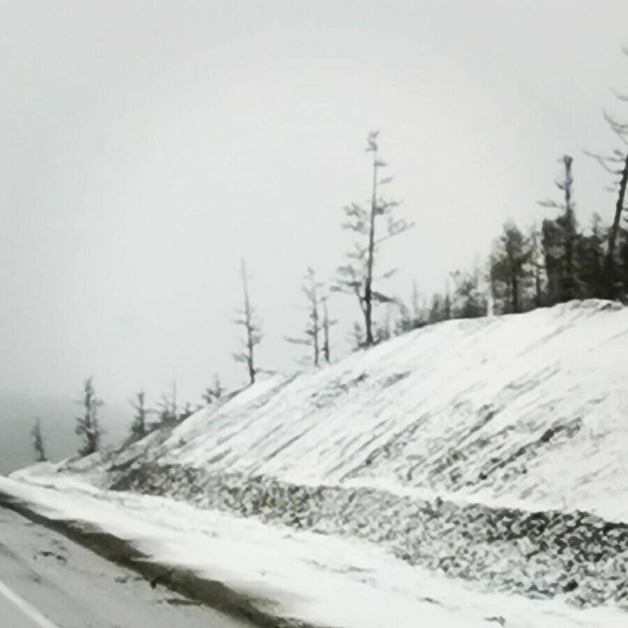 На север Амурской области вернулась зима видео